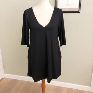 Nwot HATCH • S •maternity black classic mini dress